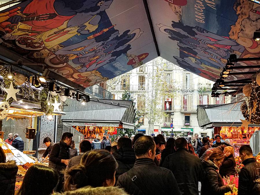 Food hall in Barcelona, Spain