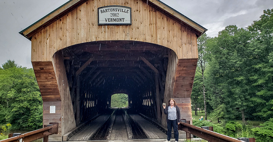 Geocaching Covered Bridge