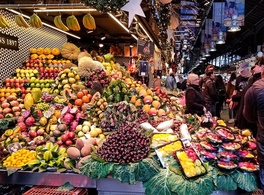 Food Market, Barcelona, Spain
