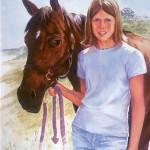 Sarah & Ruffian Watercolor 24x19