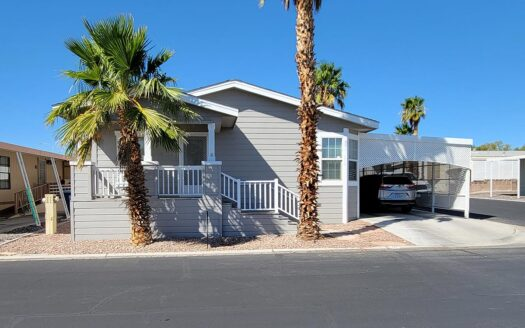 1595 sq. ft. Palm Harbor double-wide moble home For Sale in Flamingo West 55+ mobile home park - 8122 W. Flamingo Rd. Las Vegas, NV 89147 abcmobilehomes.com (702) 641-4444