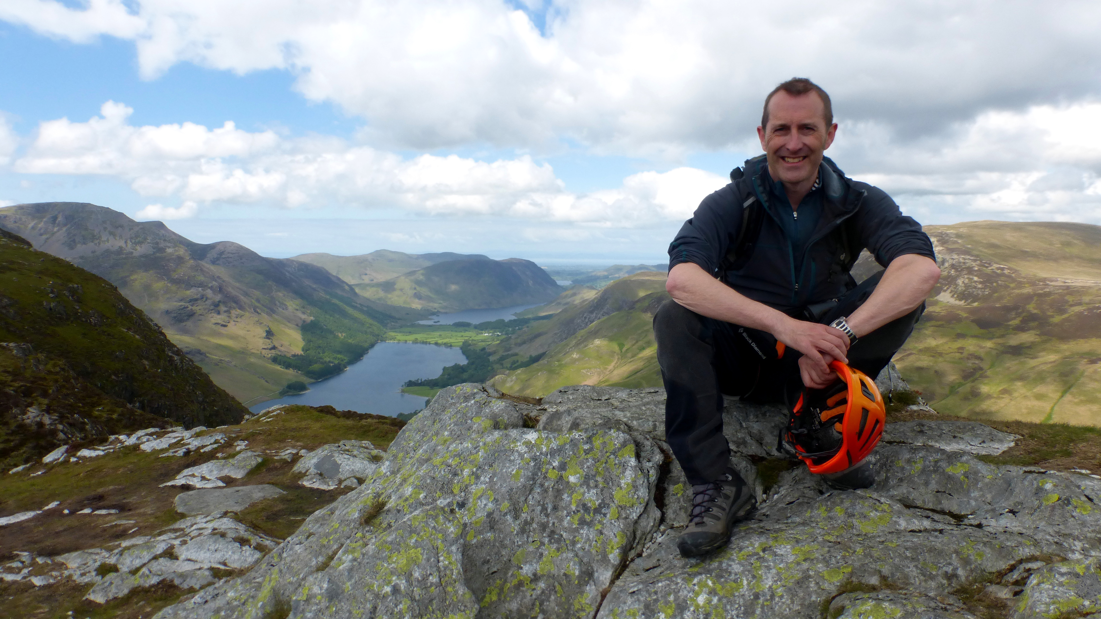 Kelvyn at the top of Fleetwith Pike