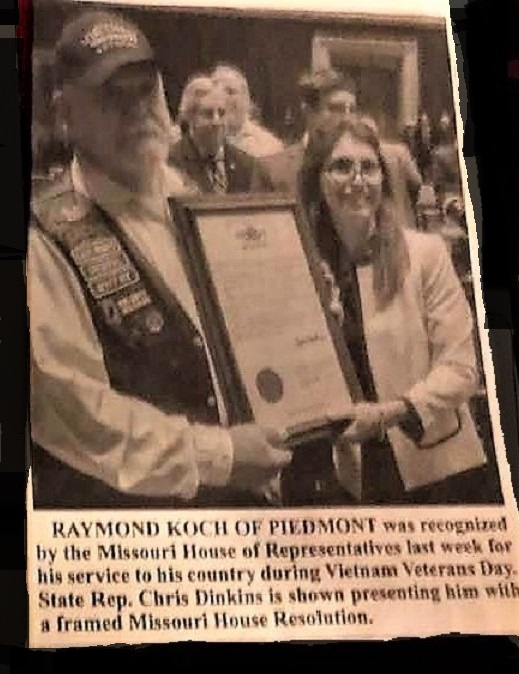 Boss Skinner being Honored by Missouri HoR
