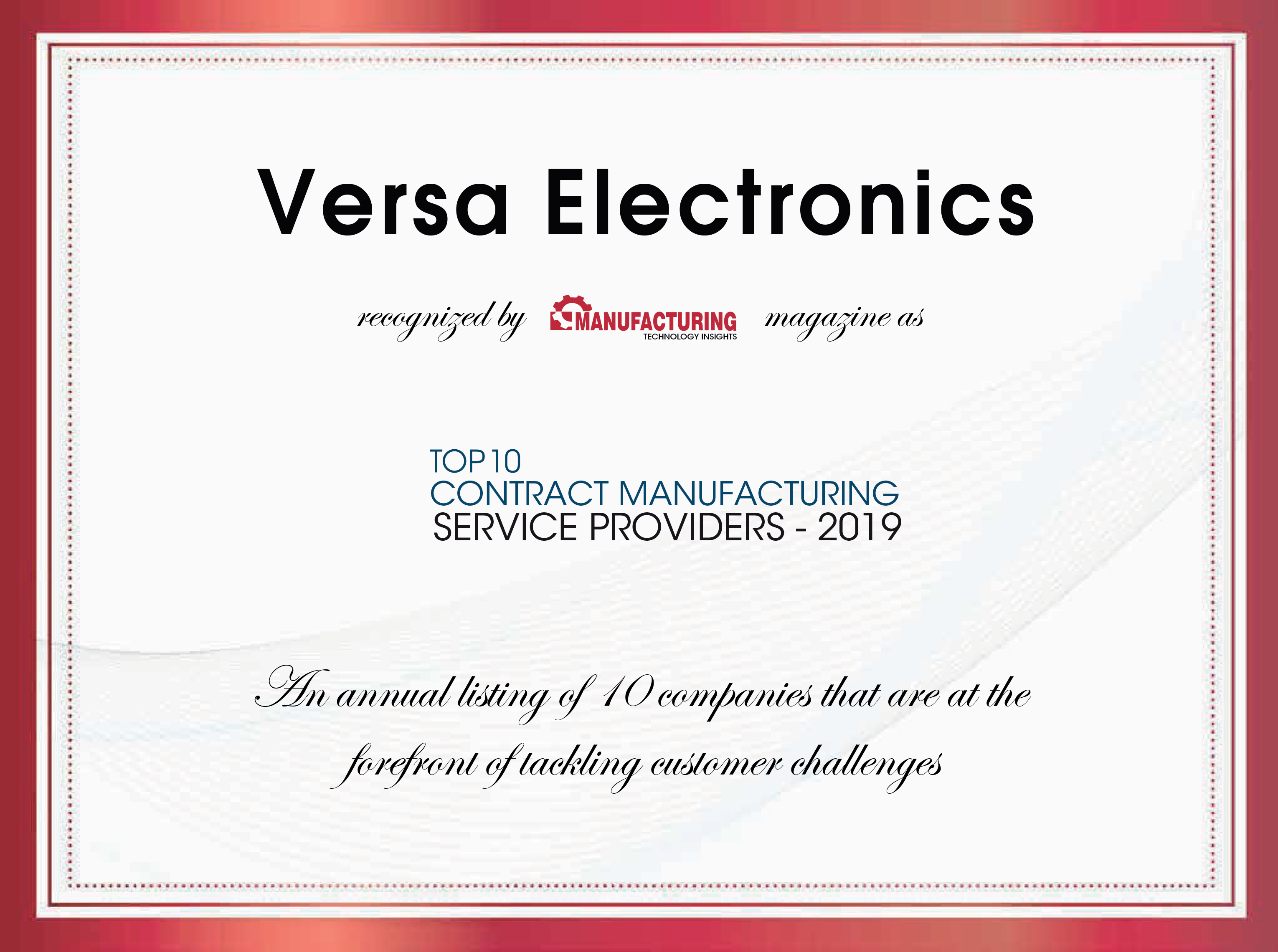 Electronic Contract Manufacturing Top 10