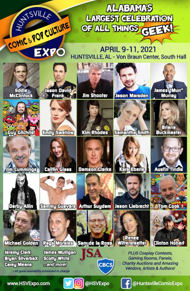 Huntsville Comic & Pop Culture Expo - April 9-11, 2021