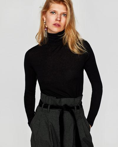 striped trousers zara