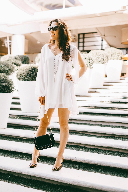 White spring dress shein summer dress