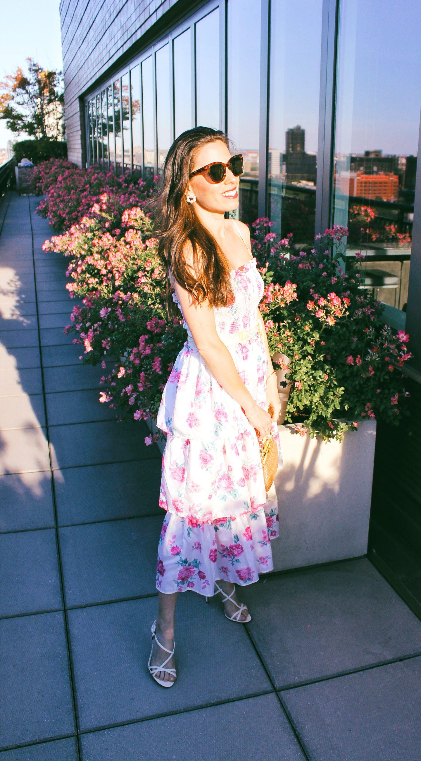 love shack fancy for targe floral dress