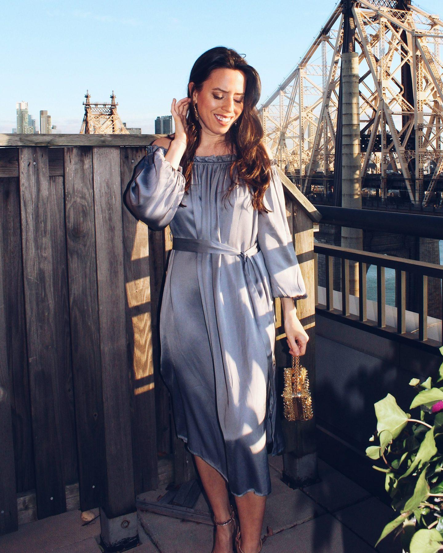 revolve off the shoulder dress - ana florentina