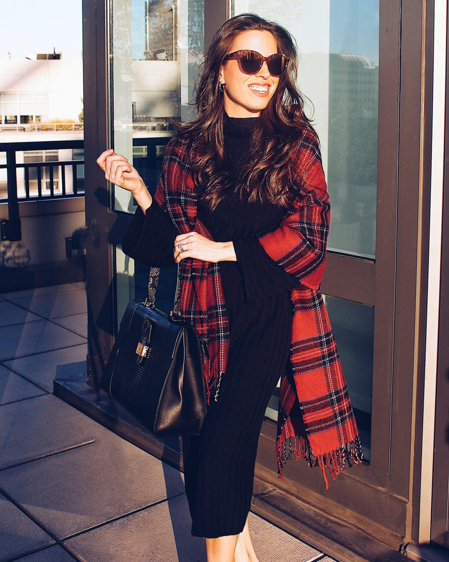 sweater dress outfit idea - ana florentina