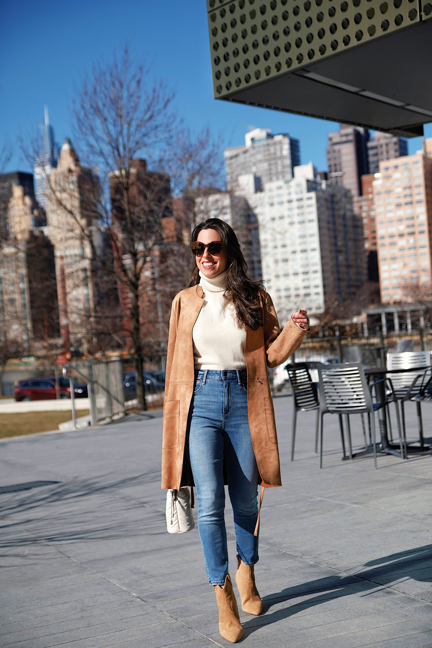How to style a faux suede coat