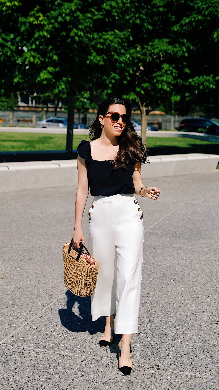 White Linen Pant for Summer - Ana Florentina