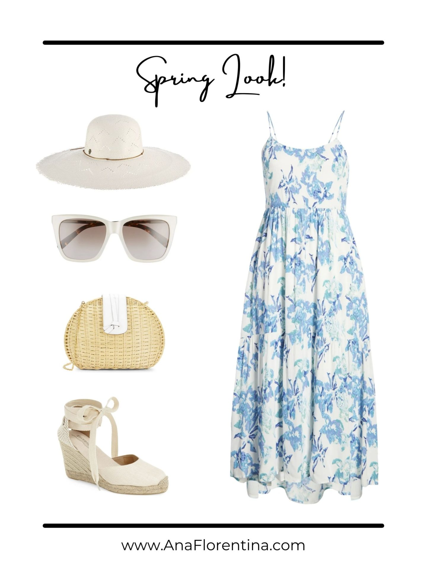 shop the look blue dress outfit