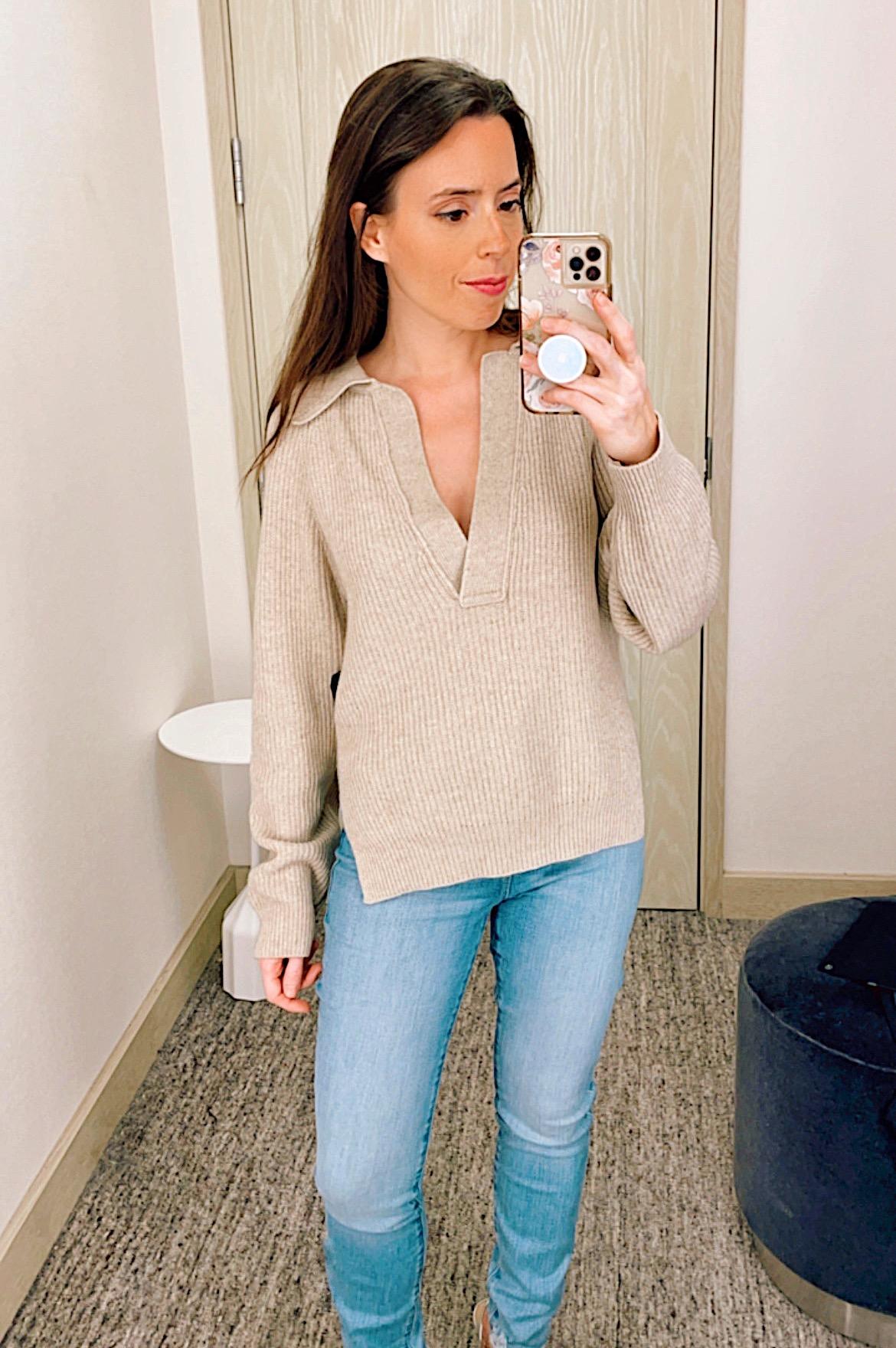 beige nanushka sweater