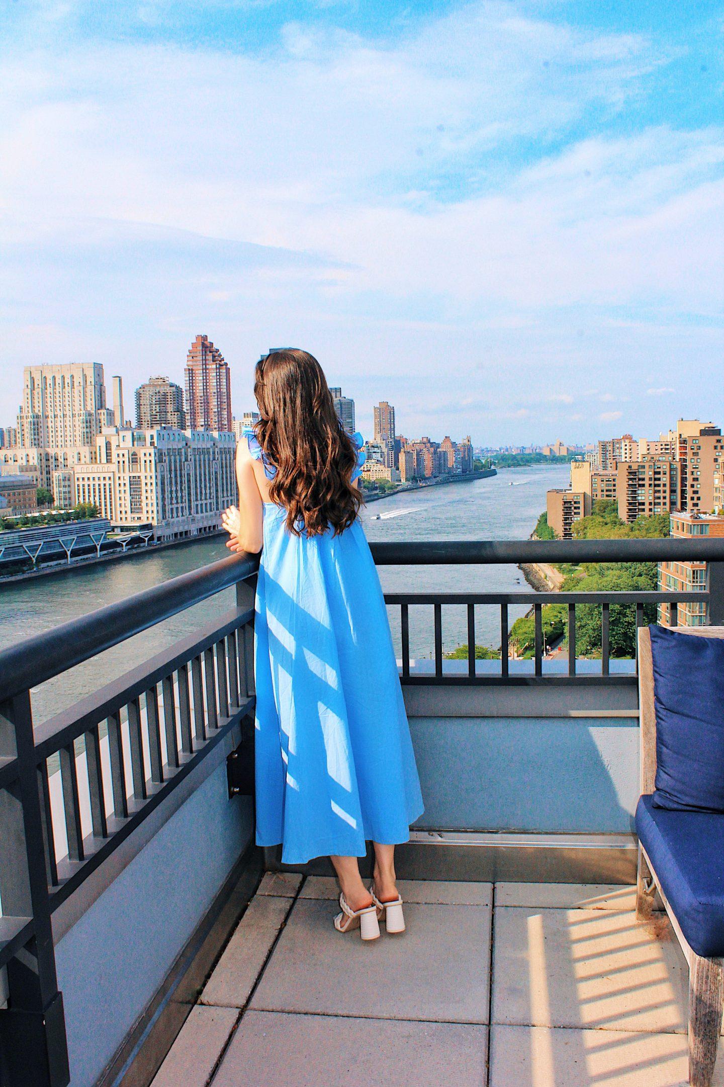 h&m blue maxi dress