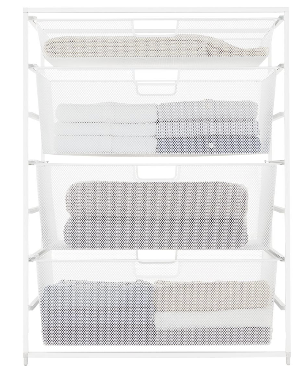Container Store Elfa White Mesh Start a Stack