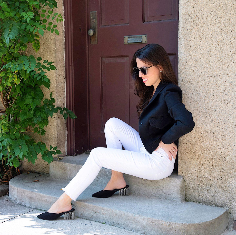 ana florentina black cropped jacket