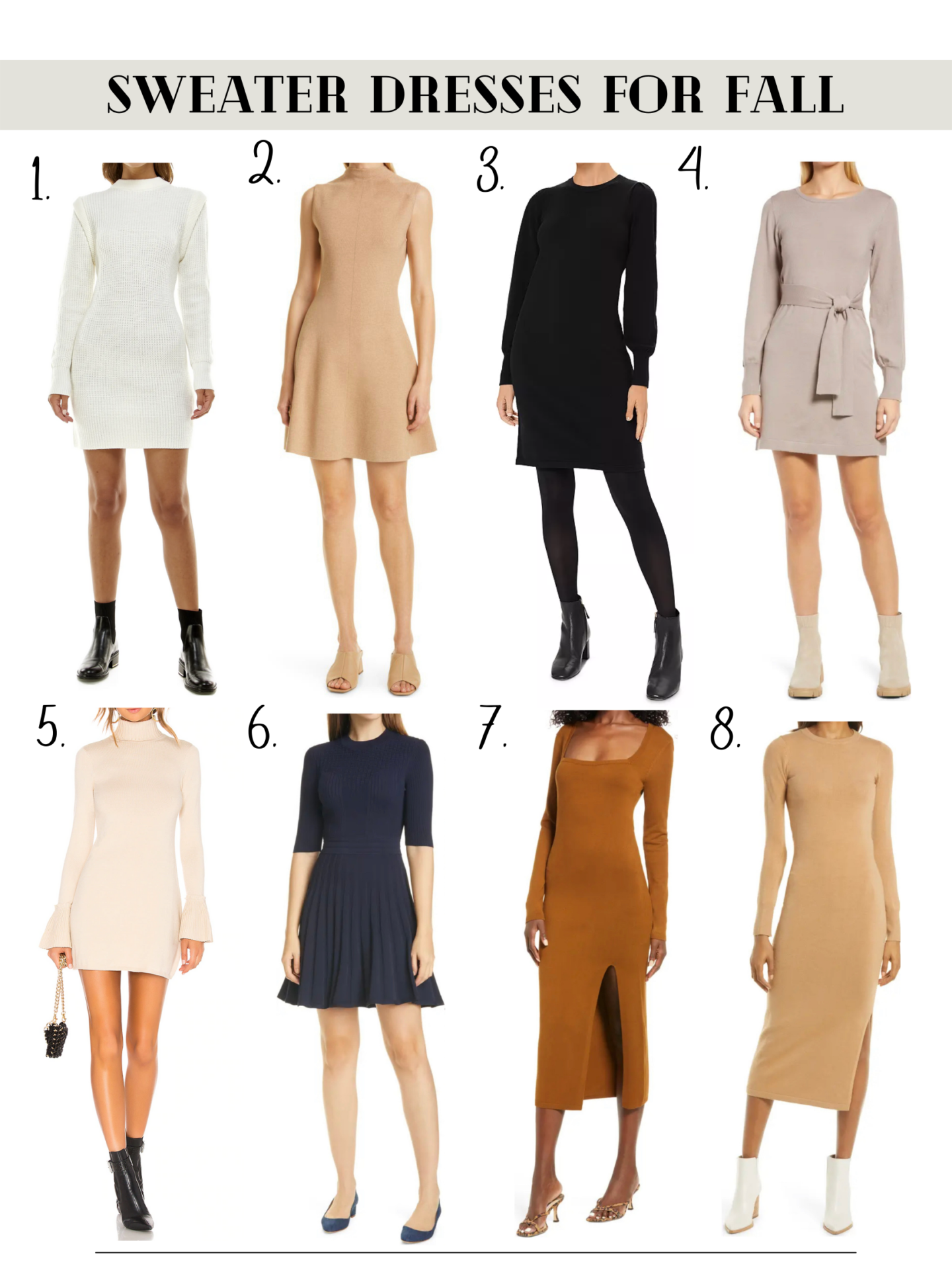 10 sweater dresses for fall