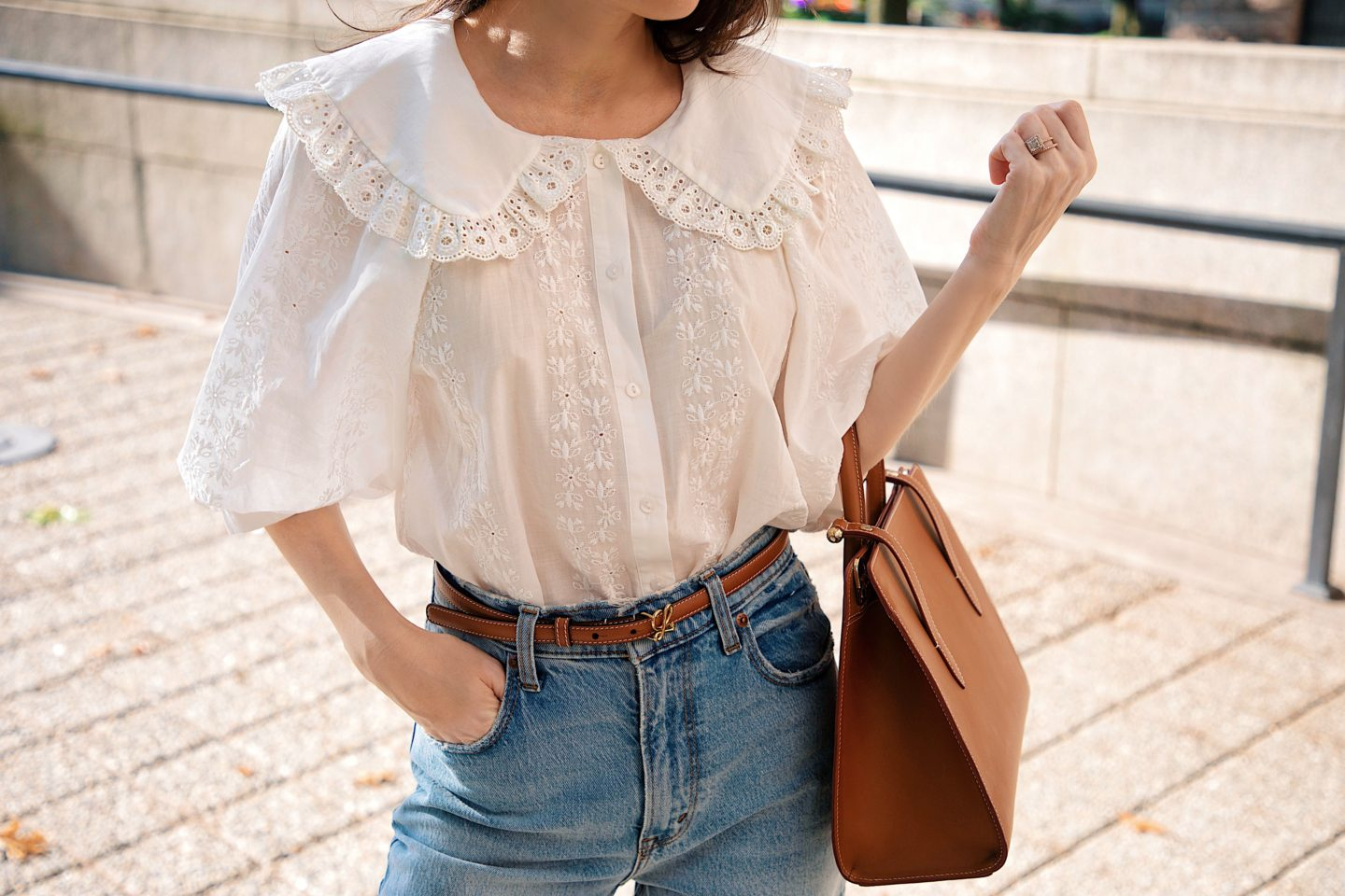 baby doll collar blouse