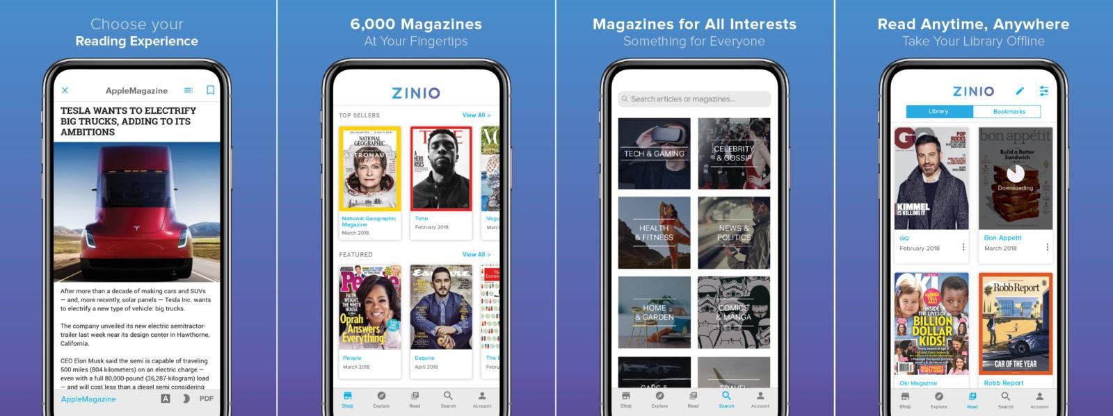 Digital magazines on iOS
