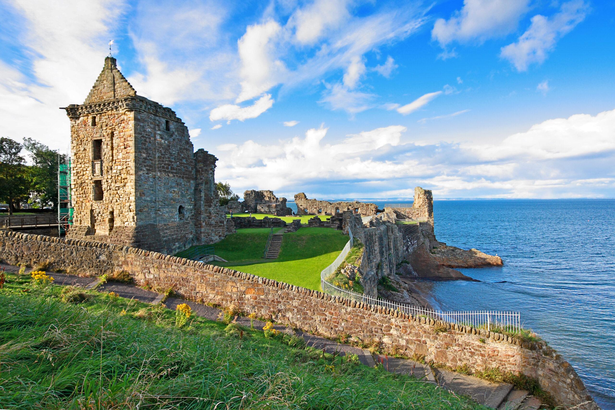 Ruins of St Andrews Castle, Fife, Scotland, United Kingdom
