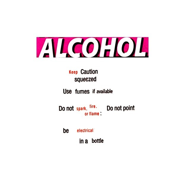 A collage showing the word ALCOHOL on a pink background