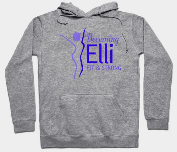 Becoming Elli fit and strong hoodie