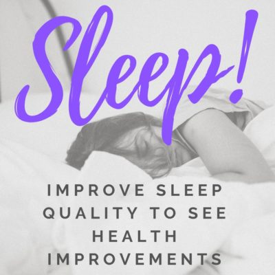 Improve sleep quality to see health improvements