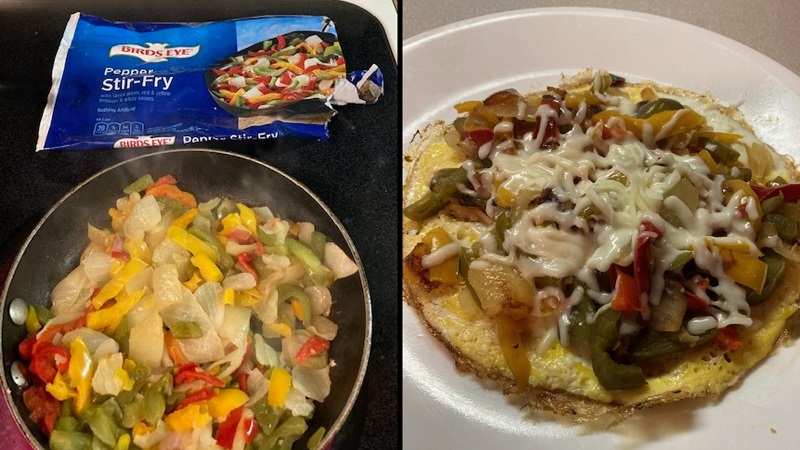 Frittata with Pepper Stir Fry Veggie Challenge