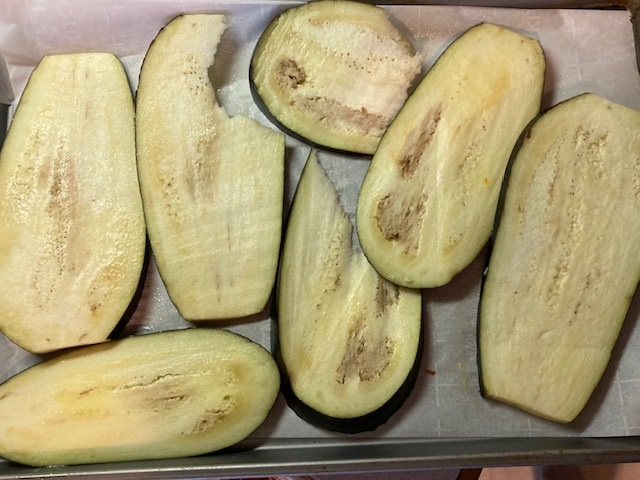 roasting eggplant for lasagna