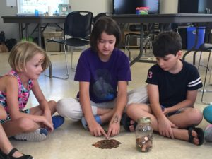 kids play the penny game