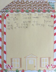 candy cane stationary paper
