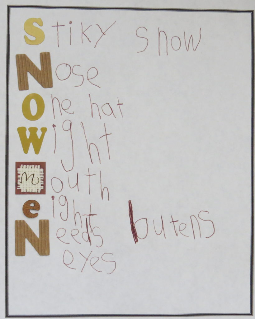 Acrostic poem-Snow Poetry