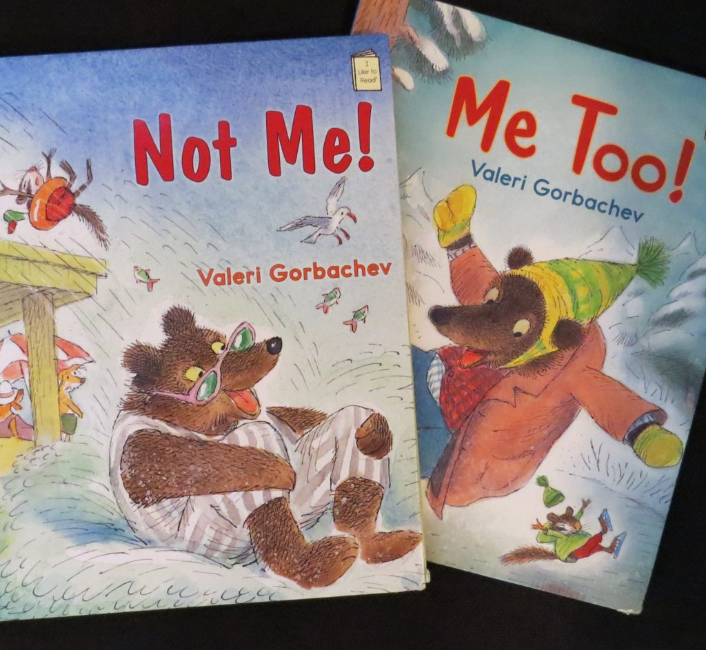 Books titled, Not Me! and Me Too!