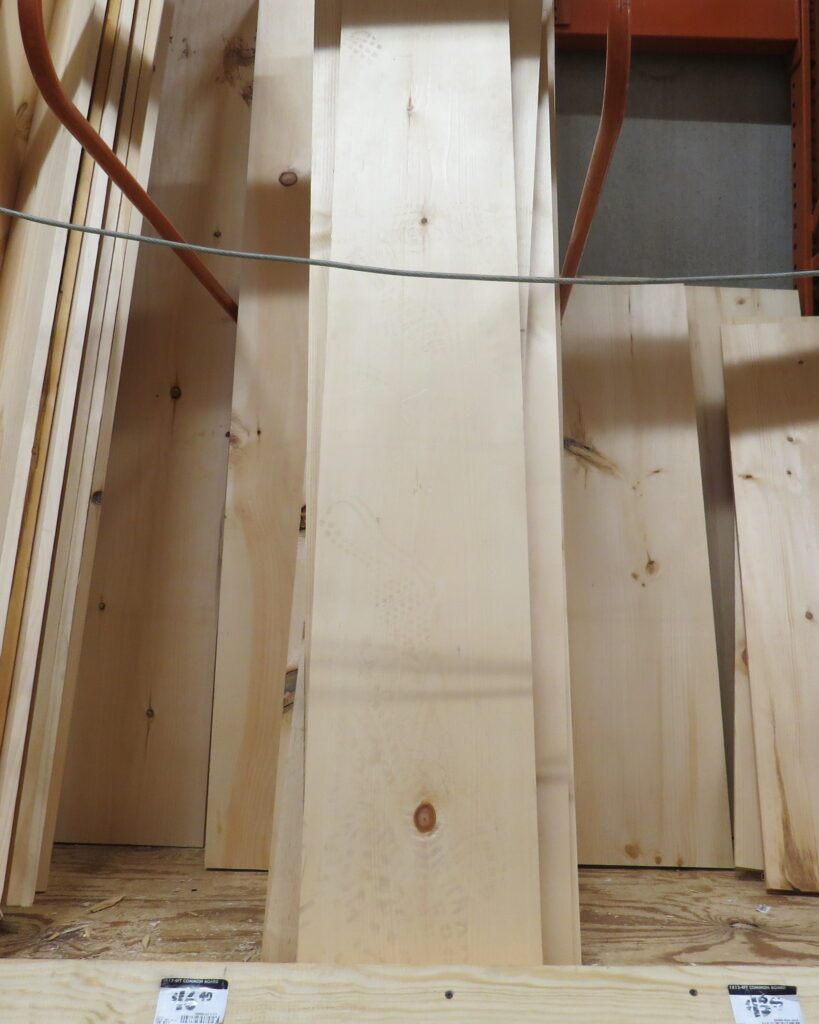 wood needed to build a 4 tier shelf