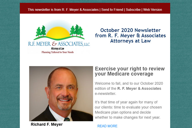 plan, October 2020 newsletter