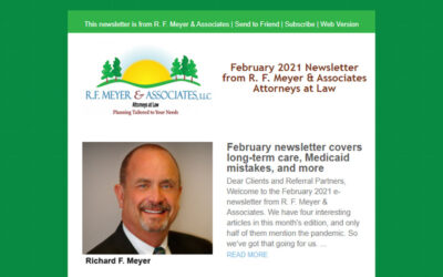 February newsletter covers long-term care, Medicaid mistakes