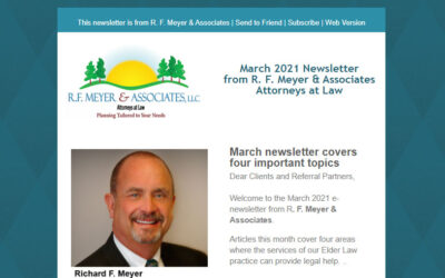 March 2021 newsletter covers four topics