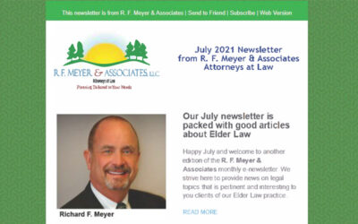 July newsletter packed with good articles about Elder Law