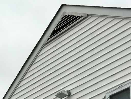 Gable Vent Damaged By Raccoon