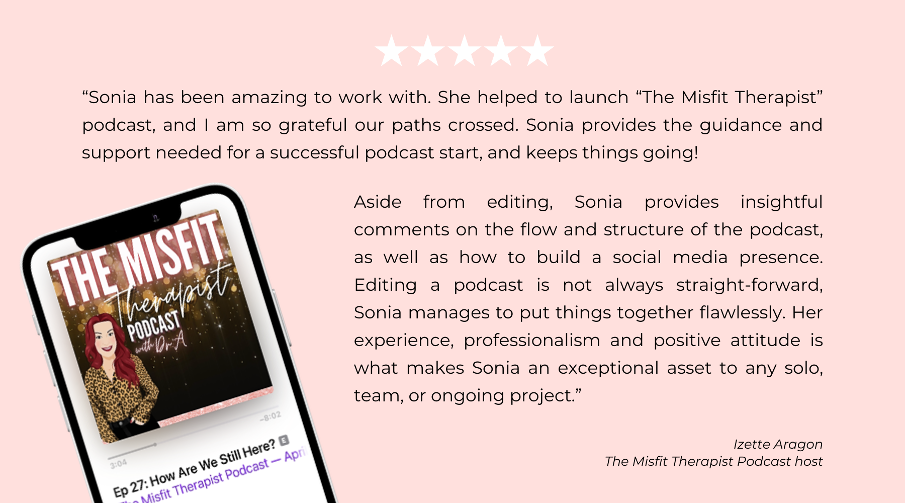 The Misft Therapist Podcast- Sonia's Desk Podcast Launch Production