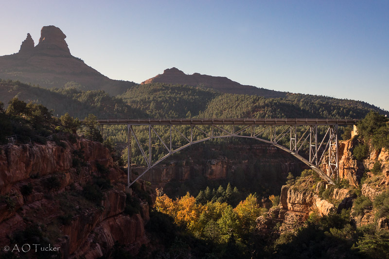 Canyon Of Color Under The Arch - Sedona Fall Color post