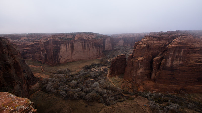 Sliding House Overlook In Fog - Canyon De Chelly post