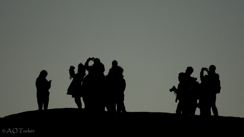 Waiting For The Sun Silhouette - Canyon De Chelly post