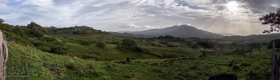 Fence Post To Fence Post Panoramic - Gringo In Nicaragua - Tisey Estanzuela Natural Reserve post