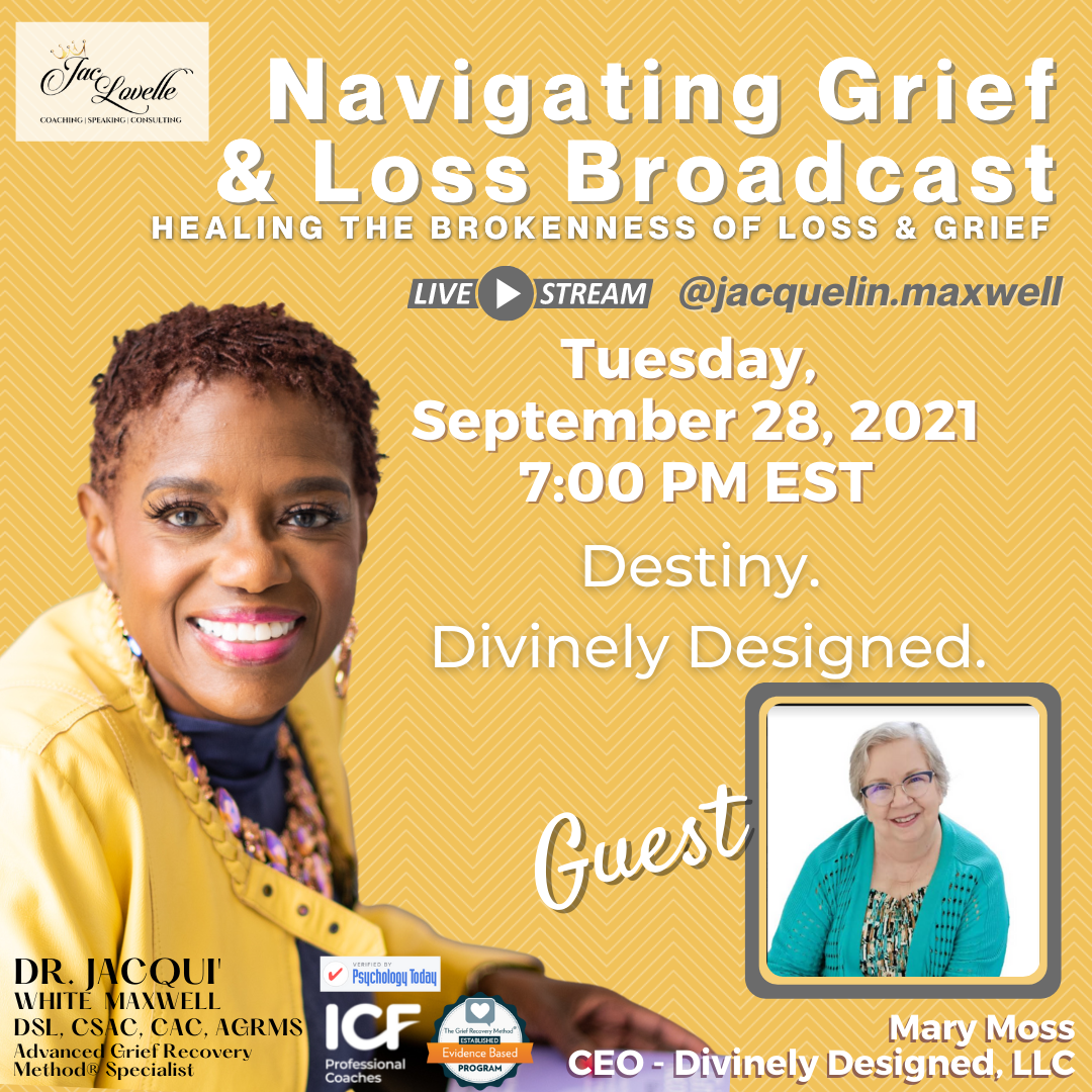Author, Mary O. Moss, navigating grief and loss