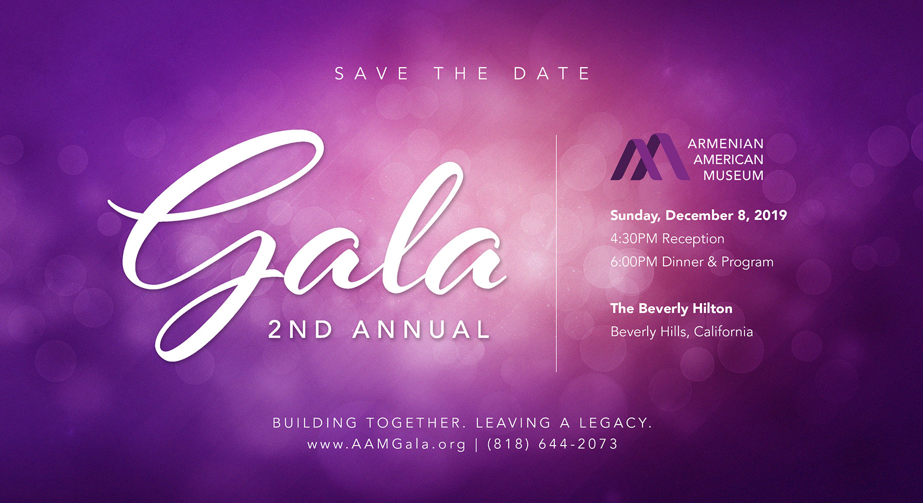 2nd Annual Armenian American Museum Gala Save the Date