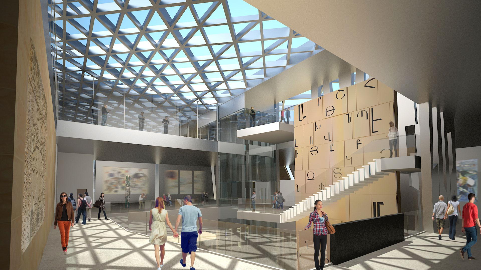 Armenian American Museum Atrium Gallery Level