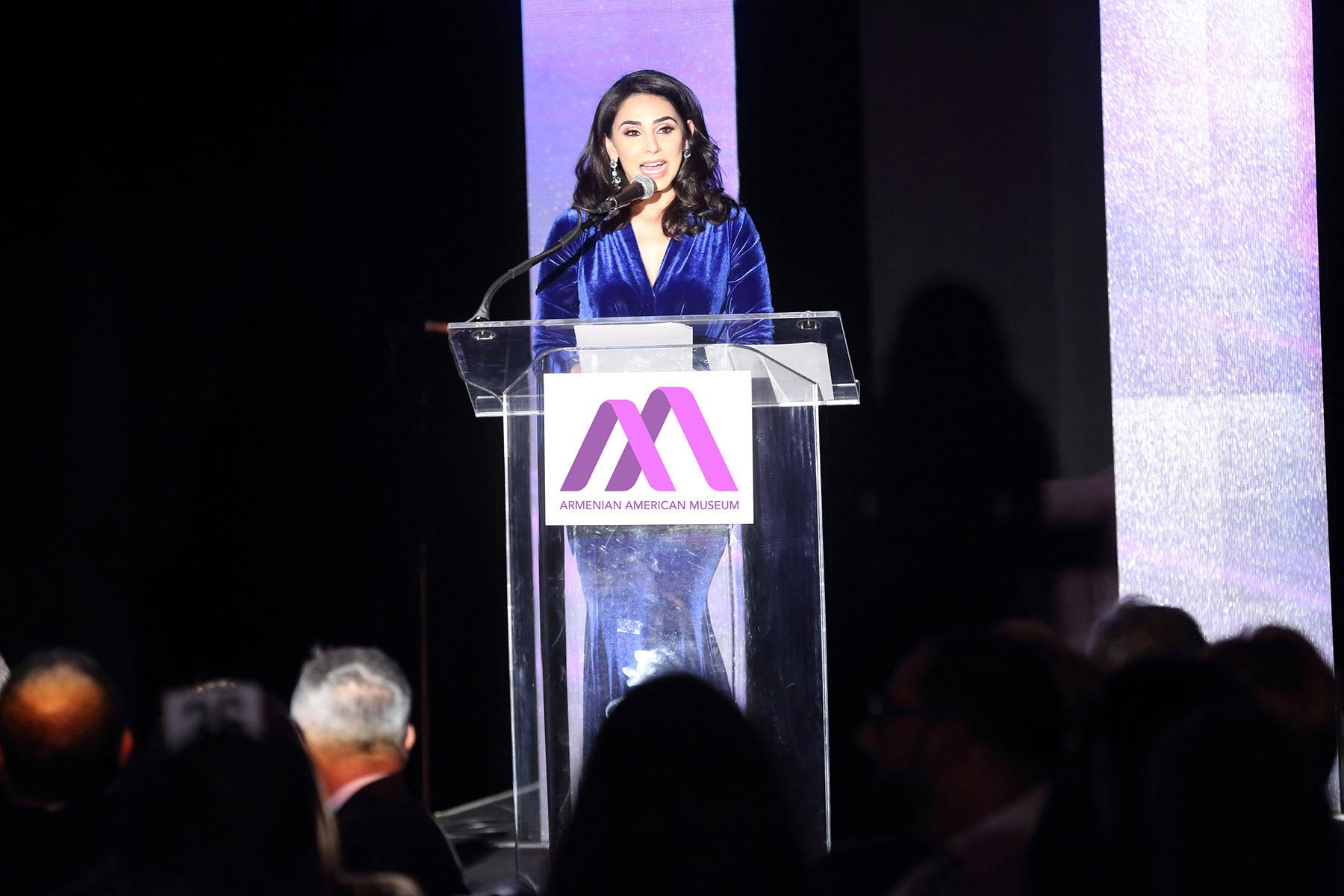 Armenian American Museum Inaugural Gala Master of Ceremonies Araksya Karapetyan