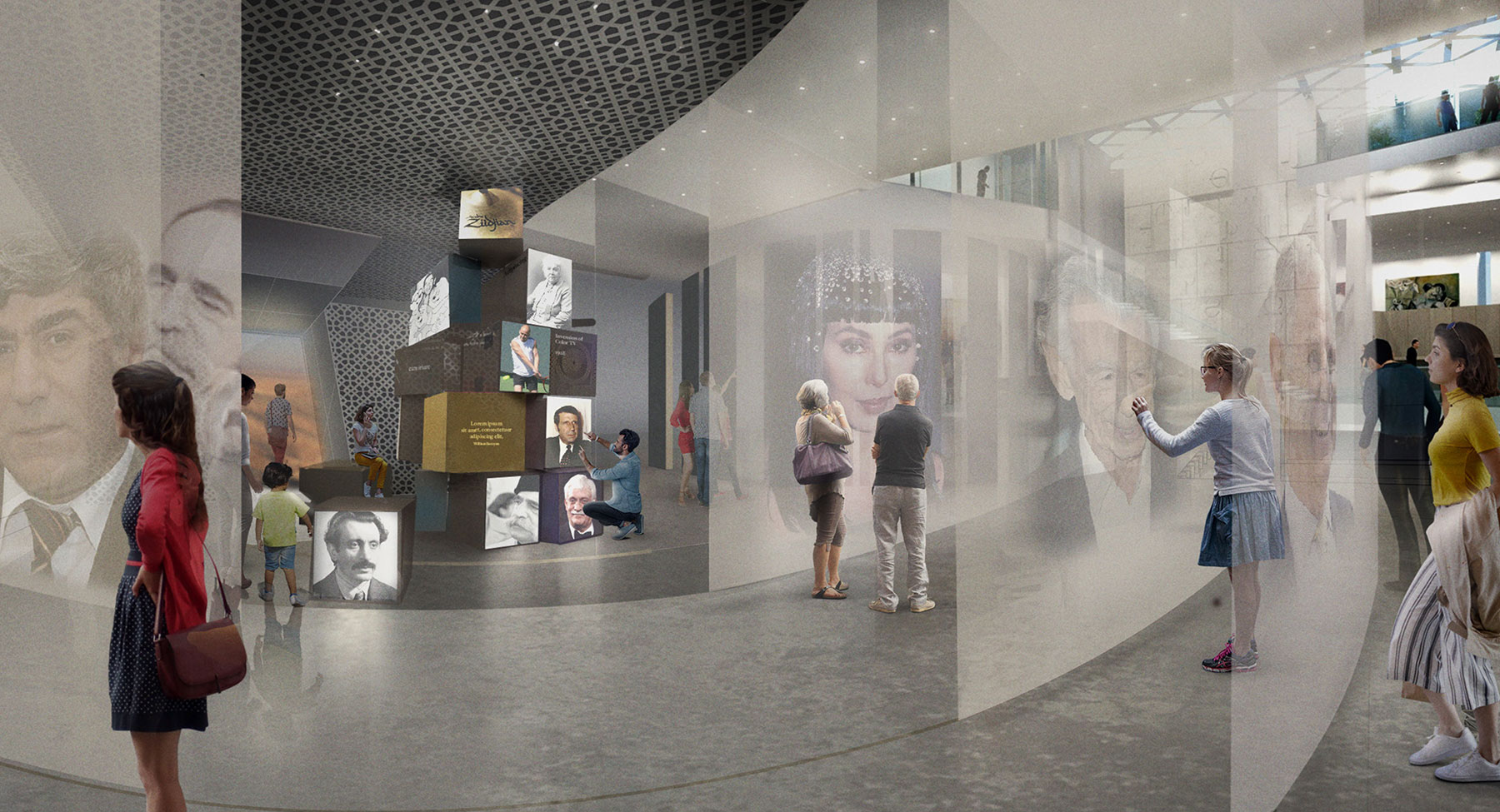 Armenian American Museum Permanent Exhibition Master Plan Conceptual Design 2